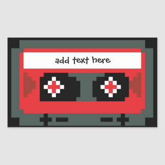 Personalized 8 bit cassette tape stickers