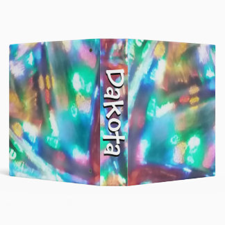 personalized abstract 3-ring binder