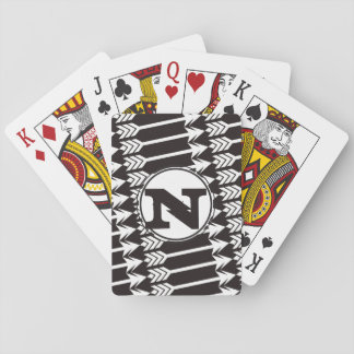 Personalized Abstract Arrow Monogram Poker Deck