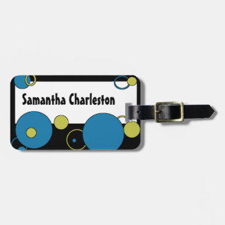 Personalized Abstract Bubbles Sci-fi Luggage Tag