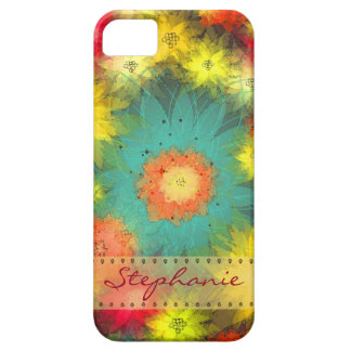 Personalized Abstract Floral iPhone 5 Case