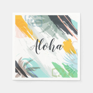 Personalized Abstract Tropical | Sketch | Napkin Disposable Napkin