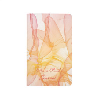 Personalized abstract watercolor pattern journal
