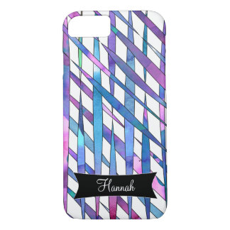 Personalized Abstract Watercolor Streamer Thatches iPhone 7 Case
