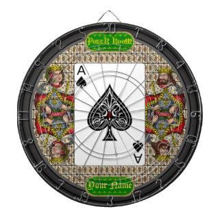 Personalized Ace of Spades Poker Dartboard