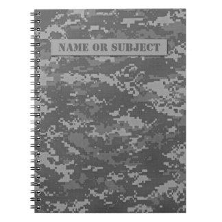 Personalized ACU Digital Camo Spiral Notebook