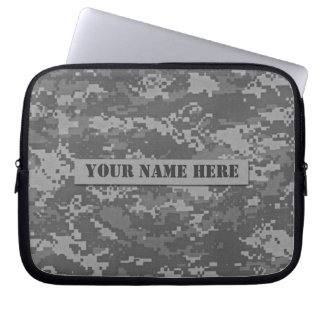 Personalized ACU Digital Camouflage Laptop Sleeve