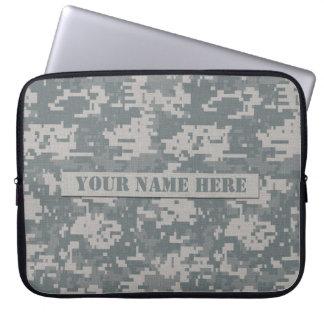 Personalized ACU Digital Camouflage Laptop Sleeve