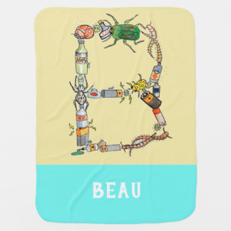 Personalized Add Your Name Alphabet blanket 'B'