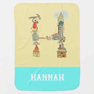 Personalized Add Your Name Alphabet blanket 'H'