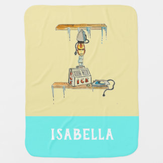 Personalized Add Your Name Alphabet blanket 'I'
