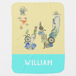 Personalized Add Your Name Alphabet blanket 'W'