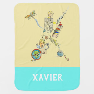 Personalized Add Your Name Alphabet blanket 'X'