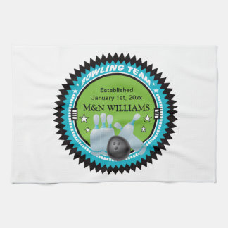 Personalized Add Your Name Bowling Team Logo Kitchen Towel