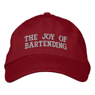 Personalized Adjustable Bartenders Hat Embroidered Hats