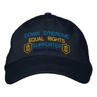 Personalized Adjustable Hat, Down Syndrome Embroidered Hats
