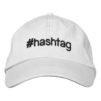 Personalized adjustable hat #hashtag