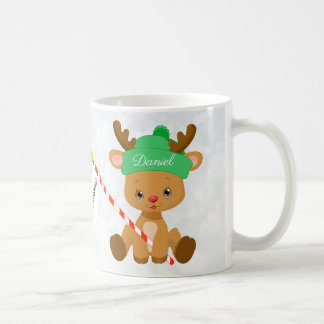 Personalized Adorable Baby Reindeer Coffee Mug