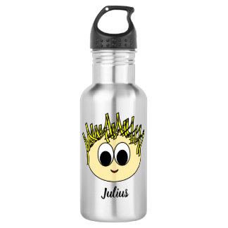 Personalized Adorable Boy Drawing Water Bottle