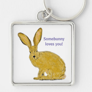 Personalized Adorable Bunny Keychain
