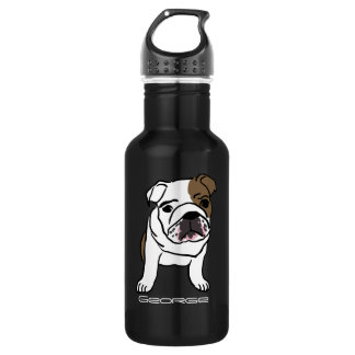 Personalized Adorable Dog Outline Water Bottle