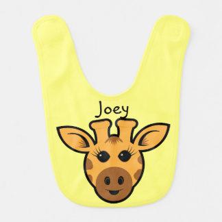 Personalized Adorable Giraffe Baby Bib