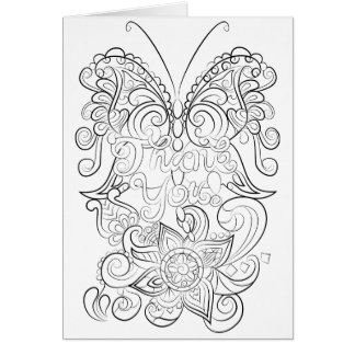 Personalized adult colouring-Thank You card