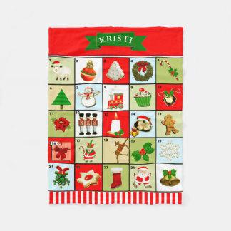 personalized Advent Calendar Fleece Blanket
