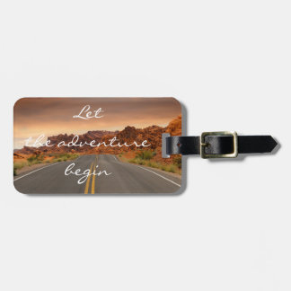 Personalized|| adventure|| Road Luggage Tag