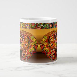 Personalized African Doodle Design Coffee Mug
