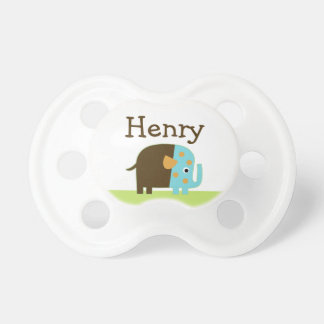 Personalized African Elephant  Pacifier