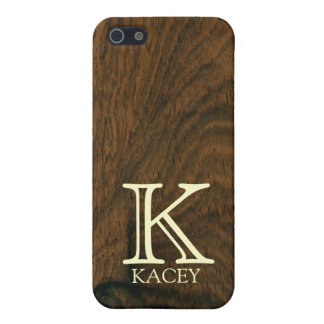 Personalized aged mahogany wood texture cover for iPhone 5/5S