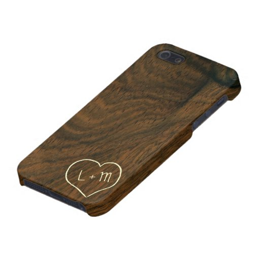 Personalized Aged Mahogany Wood Texture Cover For iPhone 5