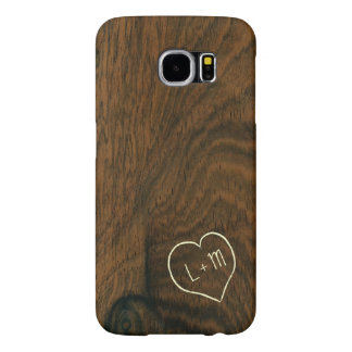 Personalized Aged Mahogany Wood Texture Samsung Galaxy S6 Cases
