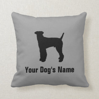 Personalized Airedale Terrier エアデール・テリア Throw Pillow