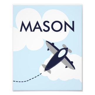 Personalized Airplane Photo Print