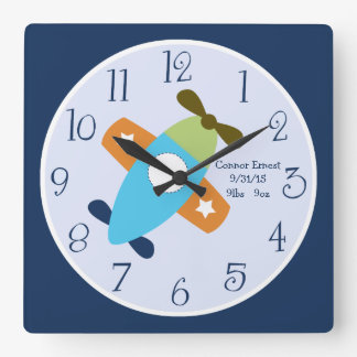 Personalized Airplane Taking Flight Wall Clock