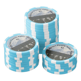 Personalized Alaskan Snow Covered Mountain Poker Chip Set