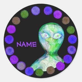 Personalized aLiEn Sticker