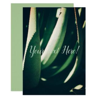 Personalized Aloe Plant Green Invitation Card