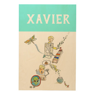 Personalized Alphabet Letter X wall art