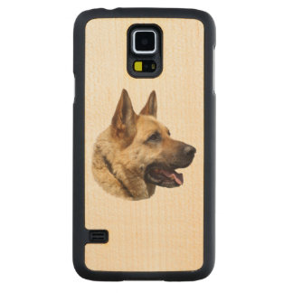 Personalized Alsatian German Shepherd dog Maple Galaxy S5 Slim Case