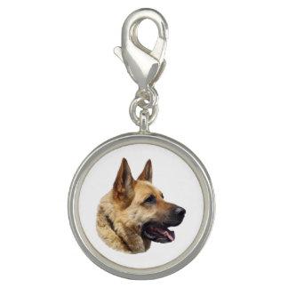 Personalized Alsatian German shepherd dog Photo Charm