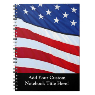 Personalized American Flag Patriotic Journal Notebooks