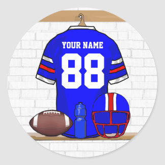 Personalized American Football Grid Iron jersey Stickers