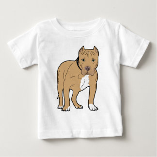 Personalized American Pitbull Dog Baby T-Shirt