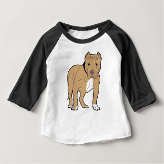 Personalized American Pitbull Dog Baby T-Shirt