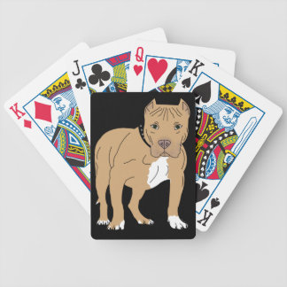 Personalized American Pitbull Dog Bicycle Playing Cards
