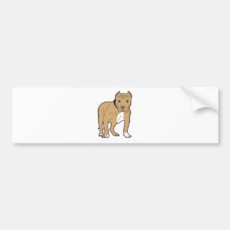 Personalized American Pitbull Dog Bumper Sticker
