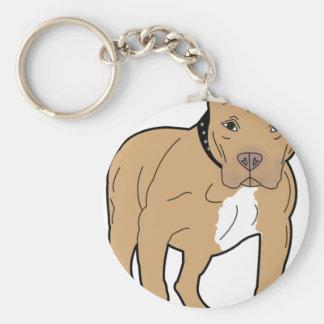 Personalized American Pitbull Dog Keychain